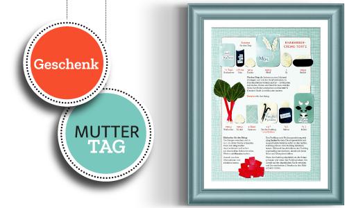 Rezept-Collage als Muttertagsgeschenk - einfach runterladen, ausdrucken und verschenken.