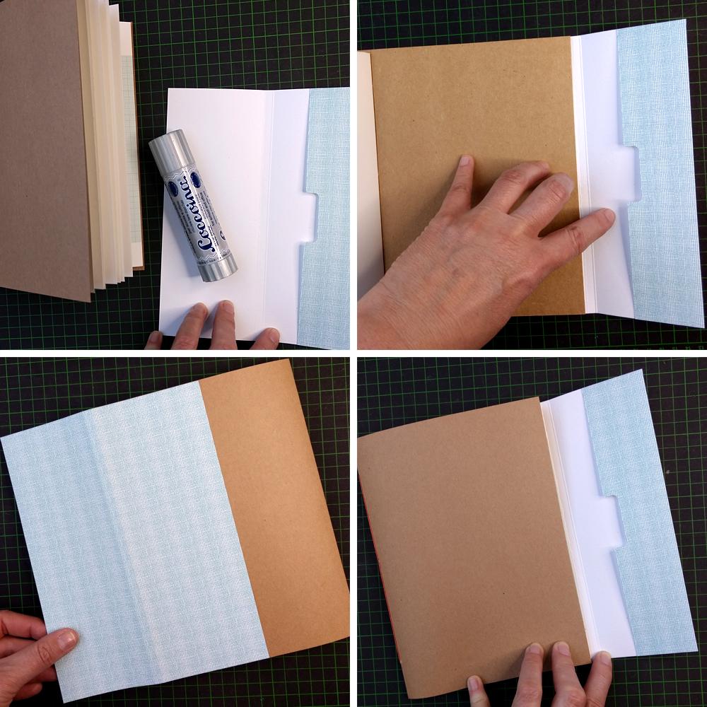 CHARM Trails: Montieren der äußeren Umschlagklappe am Umschlag.