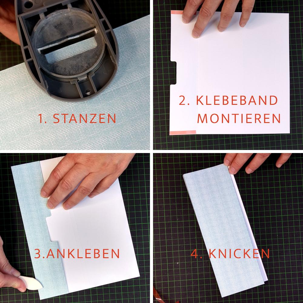 CHARM Trails: So bereitest du die äußere Umschlagklappe vor.