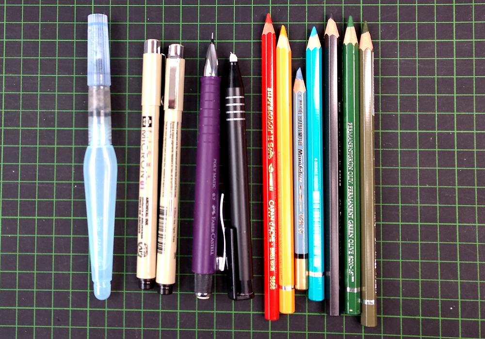 CHARM Trails Packliste: Stifte, um die besonderen Momente festzuhalten.