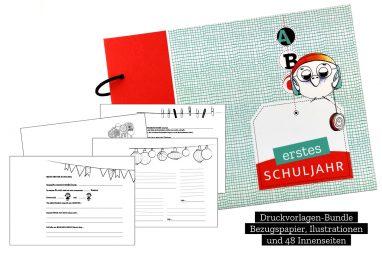 CHARM Trails Druckvorlagen-Bundle Einschulungsalbum