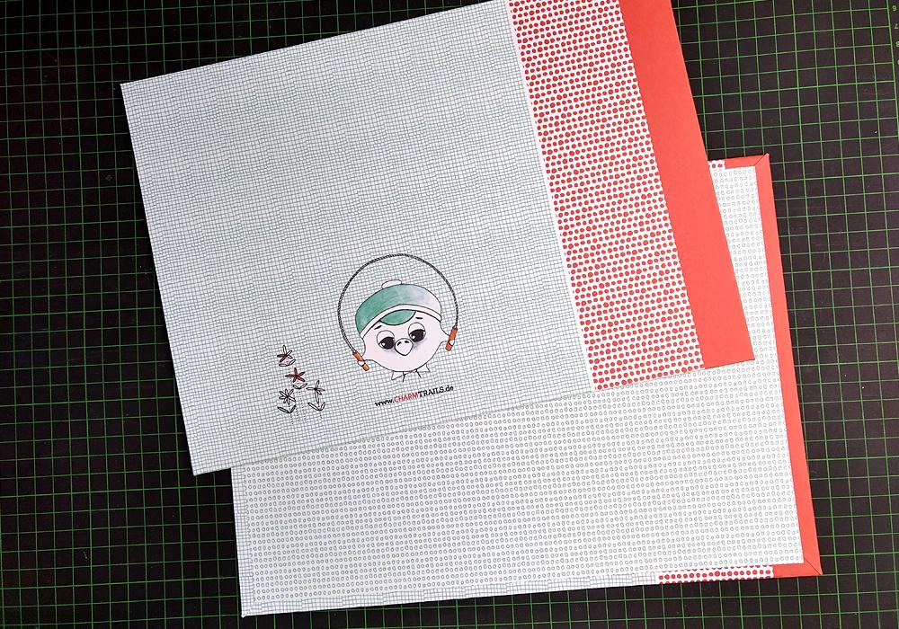CHARM Trails Buchbinden: DIN A4 Buchbinderkarton bezogen mit Papier – bereit für die Weiterverarbeitung