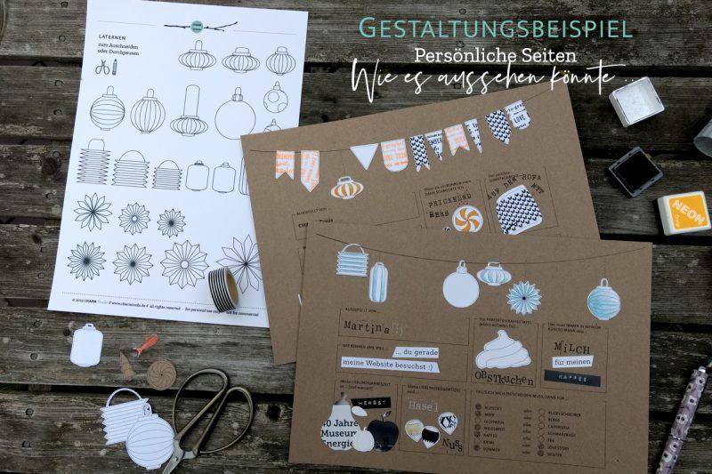 CHARM Trails Gästebuch – Innenseiten Gestaltungsideen