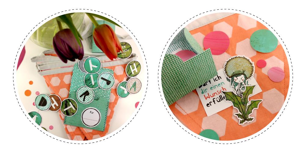 Wunschbox und Geschenkanhänger mit Geburtstags-Girlande zum Ausdrucken und Schneiden – perfekt für Geburtstagskinder